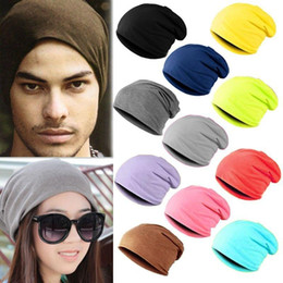 Hot!!!New Fashion Men Winter Knitted Hats for Men Casual Beanie Solid Color Hip-hop Slouch Skullies Unisex Cap Hat Dark Blue