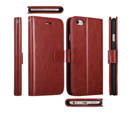 Wholesale Wallet leather flip Magnetic case for iPhone S Plus Samsung Galaxy S7 Edge Luxury Retro PU book case with Photo Frame Stand