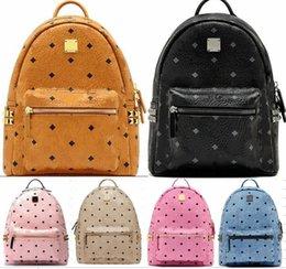 Wholesale Punk style Rivet Backpack Fashion Men Women Cheap Knapsack Korean Stylish Shoulder Bag Brand Designer Bag High end PU School Bag