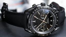 2016 BOX Luxury New Brand New Mens Quartz Chronograph Nylon Moon Watch Men's Pvd Calibre 9300 Fabric Watches