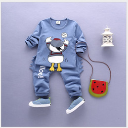 Two-Pieces Sets 2016 Autumn New Baby Boys Cartoon Tracksuits Children Long Sleeve T-shirt+Pants Kids Casual Suits Infant Boy Sports Outfits