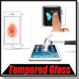 Wholesale Premium Tempered Glass Screen Protector Protective Film For iPhone S Plus SE S iPad Mini iPad Air Free Ship MOQ