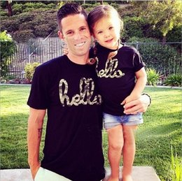 Summer 2015 New Family Matching Outfits Short-sleeved T-shirt for Boys and Girls Children's Letters Fashion T-shirts