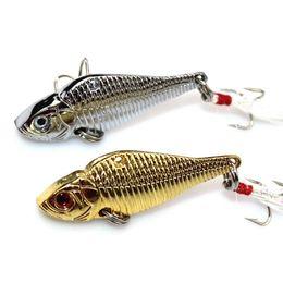 Wholesale 5cm g Metal Spinner Spoon Fishing Lures VIB Hard Jig Baits Crank Wobble Crankbait Fish Lure