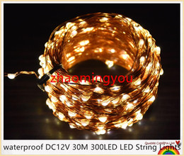 YON waterproof DC24V 30M 300LED LED String Lights Christmas Fairy Lights 8 colors Copper Wire LED Starry Lights Wedding Decoration24