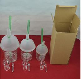 Acheter en ligne Ongles en verre pour l'huile-bongs en verre starbuck tuyau d'eau Coupe 3 types dabber plate-forme pétrolière Dabuccino Evol tuyau d'eau à ongles bongs barboteur en verre de dôme