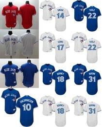 Wholesale 2016 Flexbase Mens Elite Toronto Blue Jays Edwin Encarnacion Darwin Barney Josh Thole Joe BStitched Baseball Jerseys