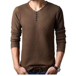 Wholesale 2016 Spring autumn Brand men Casual sweater mens Cashmere Wool Pullover christmas sweater men Dress Knitted Sweater Clothing