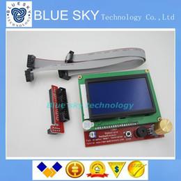 2017 синяя панель Wholesale-2sets 3D принтер смарт RAMPS контроллер 1.4 LCD 12864 ЖК-панель управления синий экран синяя панель клиренс