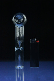 Wholesale Mini handle glass pipe Glass bubbler smoking pipe Spoon Bubbler Hybrid Spill Proof smoking bong
