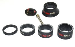 Wholesale full Carbon fiber EC90 bicycle washer mm fork tube bike headset spacer bowl washer mm carbon cycling parts