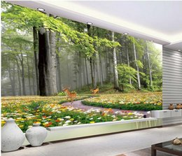 3d wallpaper custom photo non-woven mural wall sticker Nature forest fawn painting picture 3d wall room murals wallpaper