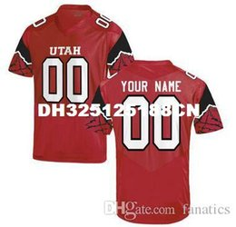 Wholesale Men s Women Youth Kid Utah Utes Personalized Customized College Football jersey Red Top Quality Drop Shipping jerseys Cheap