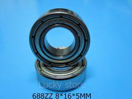 688ZZ ABEC-5 rodamientos 10pcs Metal el mini cojinete que envía libremente 688 688Z 688 ZZ 8 * 16 * 5m m acanaladura profunda ABEC-5 del acero del cromo desde rodamientos 5mm fabricantes