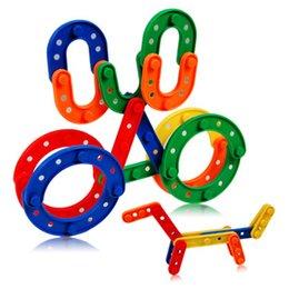 Wholesale 60pcs pack Kid s Toys Plastic Software Bar Building Blocks Educational Building Blocks Kits Sets for kid s Creativity