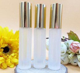 Wholesale Factory Price Empty ml roll on perfume bottle buy new stripes frosted glass roller go bead bottles ball