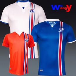 Wholesale 2016 Iceland Jersey Knatt Pyrna Evry Island home away Football Shirt Foboltatreyjur Chemisette futbol jersey