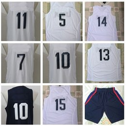 Wholesale White Jersey Dream Team Authentic Jersey USA Olympic Games Basketball Jersey Best quality Size S XXL