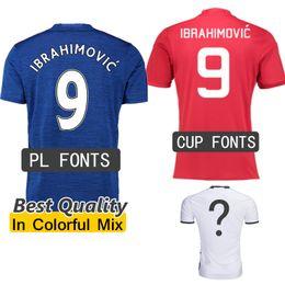 Wholesale Man IBRAHIMOVIC Jersey UNITEDES Cup PL Fonts Best Quality Soccer Jerseys SCHWEINSTEIGER MEMPHIS MATA ROONEY football uniforms