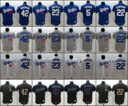 Wholesale Men Los Angeles Dodgers Clayton Kershaw robinson Adrian Gonzalez Corey Seager baseball jerseys Stitched