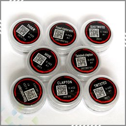 Wholesale Prebuilt Coils Heating Wires Premade Clapton Tiger Hive TWISTED Fused clapton wire Types in one box DHL free