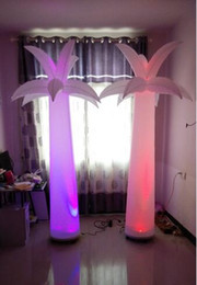 2.4 m H inflatable palm tree stage decoration with led light for party & event