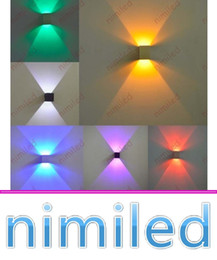 Wholesale Nimi994 Applique mural encastré lampe murale en aluminium W LED Square Living Room Chambre à coucher TV Fond Lampes Aisle Corridor Lights KTV Lighting