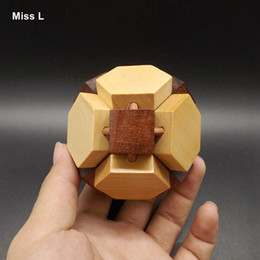Dual Color Football Puzzle Wooden Kong Ming Lock Adult Children Educational Toys Interactive Game Gift Teaching Prop Mind Game