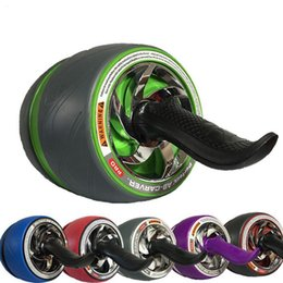 Wholesale Unisex Super Mute Ab Wheel Roller Gym Fitness Stomach Abdominal Strength Exercise Wheel Indoor Sport Equipment Fitness Roller LJJP130