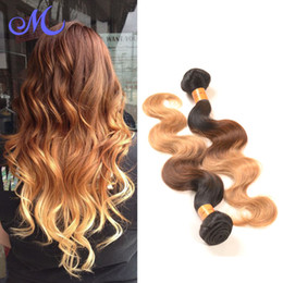 Wholesale Peruvian human Hair Body Wave B Ombre Human Hair Extensions Bundle Deals Ombre Peruvian Hair best Hair Company