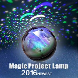 2016 lumière magique étoile Magic Lamp Project Lamp gradateur intelligent LED Etoiles scène Rotation lumière Creative Party diamant RGB Home Decor Cadeau Enfants lumière magique étoile sur la vente