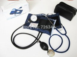 Wholesale High Quality Blood Pressure Monitor Cuff Stethoscope Kit Travel Arm Aneroid Sphygmomanometer Pouch sphygmomanometer blood pressure monitor