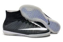 Wholesale MEW Soccer Shoes Elastico Superfly IC Indoor Men s Soccer Boots Cleats Laser original Men shoes IC Soccer Shoes Football Shoes