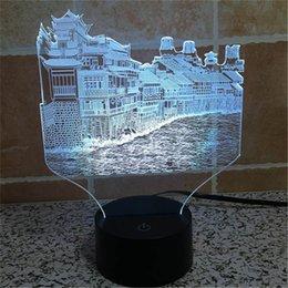Wholesale Acrylic USB Home Decoration Bulbing LED Lamp China Phoenix City History Architecture Night Light D TD86