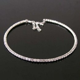 Wholesale The new authentic color diamond single row full diamond necklace import oden drill collar The bride necklace
