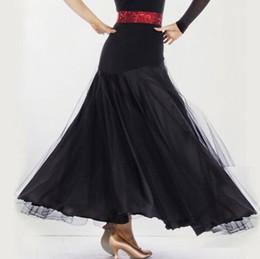 Dresses For Ballroom Dancing Standard Black Red Rose Purple Blue Jazz Tango Dress For Women Ballroom Skirts Flamenco Dance Skirt