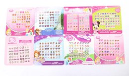 Wholesale sheets pairs EPOXY EMBOSSED CARTOON Mixed STICKS ON EARRING STICKER ACCESSORIE many designs can choose
