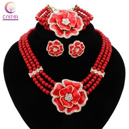 2016Women necklace for party wedding Trendy 3 colors Direct Selling Jewelry sets Boho crystal statement necklace with earrings