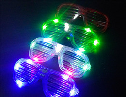 Wholesale new LED Glasses Flashing Shutters Shape Glasses LED Flash Glasses Sunglasses Dances Party Supplies Festival Decoration Christmas Hollowen
