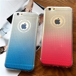 Cheap Gradient Shockproof Transparent Soft TPU With Cushion For Iphone 5 5s se 6 6s 6plus plus Rugged Diamond Pattern Back Cover Shell