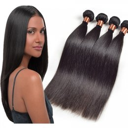 8A Quality Brazilian Human Hair Straight Hair Weave Without Chemical Processed Natural Color Bundles 2pcs lot 8-30inch in Stock