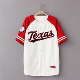 Wholesale Summer New Baseball Shirt Hiphop T Shirt Baseball Men Camiseta Beisbol Streetwear Mens Baseball Shirts XXXL Couple T Shirts