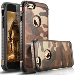 Wholesale New Army Camo in1 Shield Cases Hybrid Rugged Shockproof Armor Camoflage Phone Case for iphone s s Plus