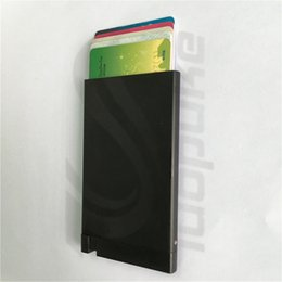Wholesale Award winning Card Protector Very Slim Credit Card Holder wallet with RFID protection stack up pull out slim wallet