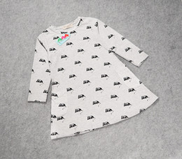 Hot sale INS baby girls clothes spring autumn girl long sleeve dress mouse printed children skirts kids cotton dresses