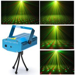 Christmas Mini RGB LED red and green laser stage light lighting laser disco lights display projector KTV effect light