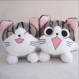 Wholesale 1pcs cm Christmas birthday gifts Japan anime figure cheese cat owners Swweet plush stuffed toy doll pillow cushion