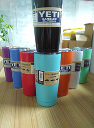 Wholesale 9 colors oz oz Tumbler Cups Cars Beer Mug Mug Stainless Steel Insulation yeti Cup