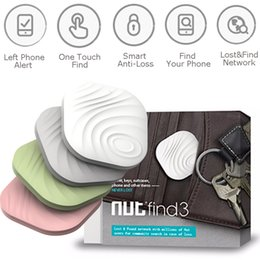 Wholesale Latest Nut Anti Lost Reminder DHL Ship Wireless Bluetooth GPS tracker Smart finder Tag Key Finder Alarm Bag Wallet Locator