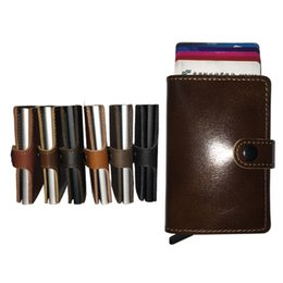 Wholesale Simple and Minimal Best and Cool Slim Wallets for Men Real Cow Leather Wallet with Card Holder for Cash and Many Cards